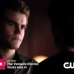 Stefan talking with Damon about Elena