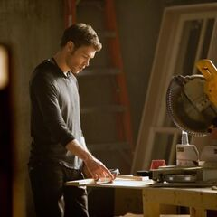 Klaus renovating the mansion