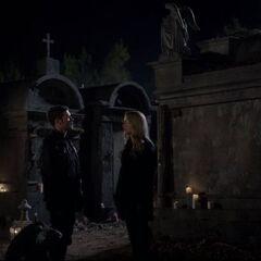 Klaus and Rebekah say goodbye