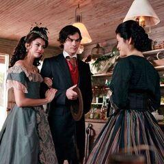Katherine, Damon and Pearl