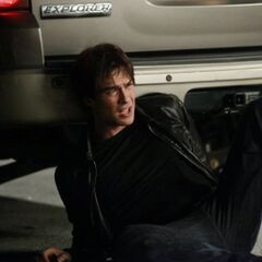 Damon on the ground.