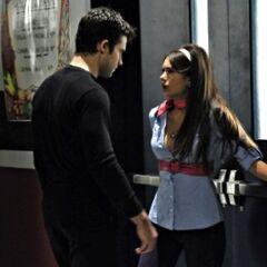 Elena cornered by Noah.
