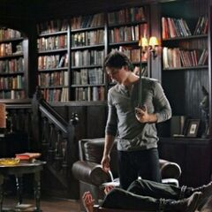 Damon torturing Mason
