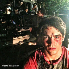 Steven playing Jeremy (In the accident with Katherine)
