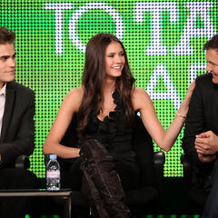 Paul Wesley, Nina Dobrev, Kevin Williamson