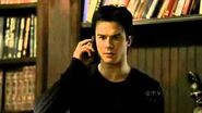 "TVD 1X20 Damon talks with Alaric then Elena on the phone ""Stefan likes puppy blood"""