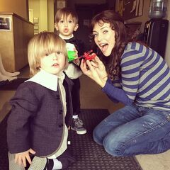 Annie with baby Damon and Stefan