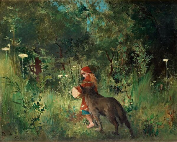 File:Carl Larsson - Little Red Riding Hood 1881.jpg