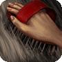 Brush the reindeer's fur