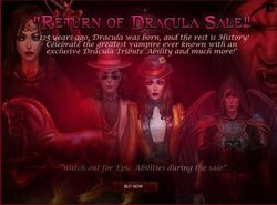 Return of Dracula Sale promo