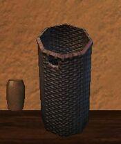 Tall round firegrass kojani basket