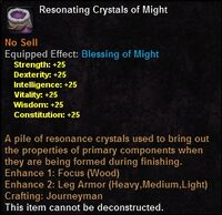 Resonating crystals might