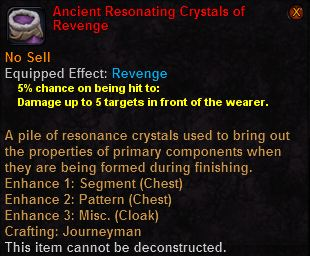 Ancient resonating crystals revenge