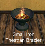 Small Iron Thestran Brazier