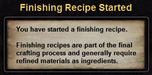 Hint finishing recipe