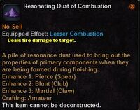 Resonating dust combustion