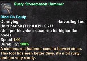 Rusty Stonemason Hammer