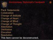 Anniversary diplomat's cardpack