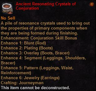 Ancient resonating crystals conjuration