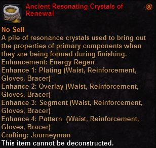 Ancient resonating crystals renewal