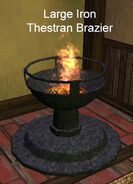 Large Iron Thestran Brazier