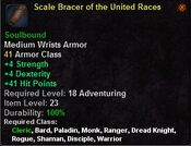 Scale bracer of the united races