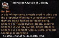 Resonating crystals celerity