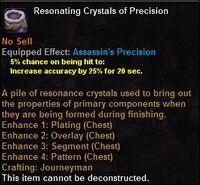 Resonating crystals precision