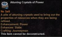 Attuning crystals power
