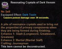 Resonating crystals darkvenom