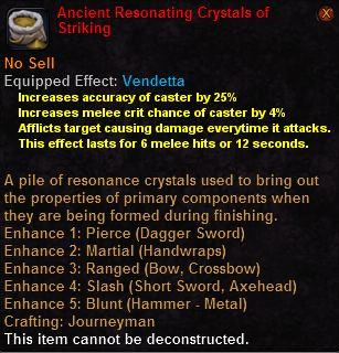 Ancient resonating crystals striking