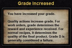 Hint grade increased