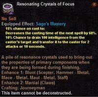 Resonating crystals focus