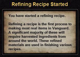 Hint refining recipe
