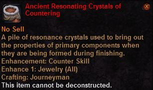 Ancient resonating crystals countering