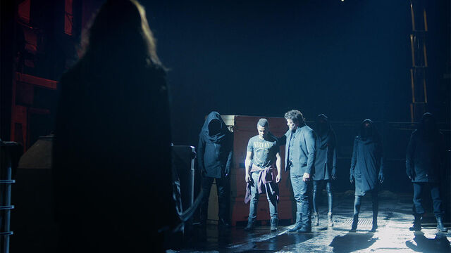 File:He's Coming 1x12 Dmitri and his minions surround Mohamad and Vanessa.jpg