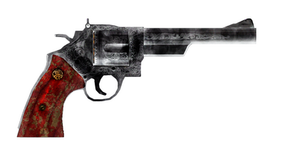 Burnt .44 Magnum Revolver