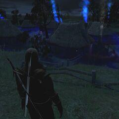 Геральт в приключении «Призраки Тихой деревни»