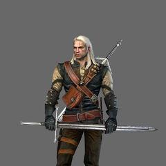 Модель первой версии Геральта в игре Ведьмак