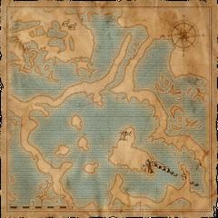 Карта окрестных болот