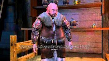 Упоминание о Цири из первой части The Witcher