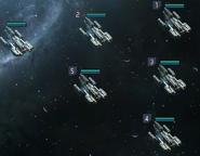 Fleet of hawks