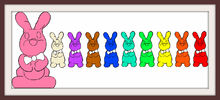 Ten Chocolate Bunnies Colorful Frames