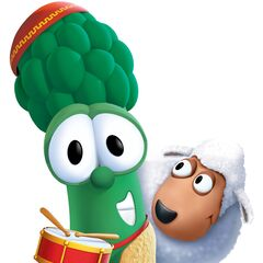 Junior as Aaron (with Baa-Baa) in <i>