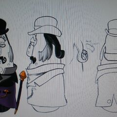 Concept art for Mr. Nezzer as the Mayor from