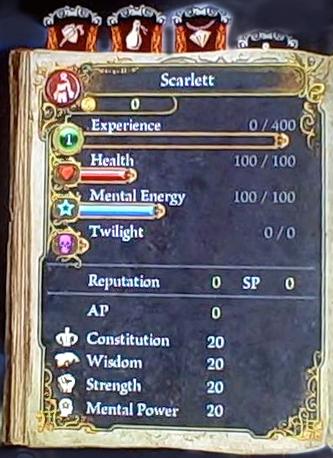Scarlett Basic Stats Page