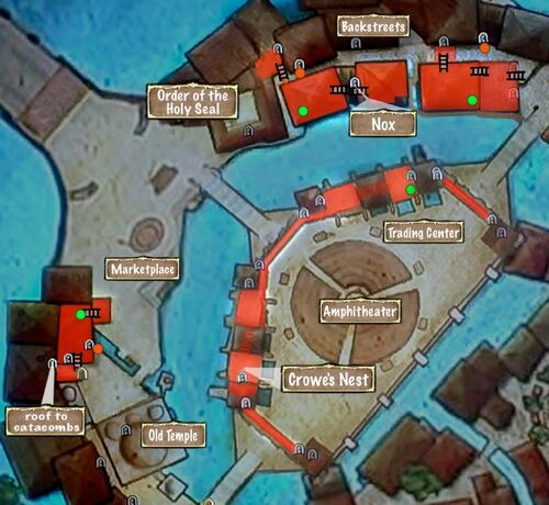 Map of Outer City Rooftops