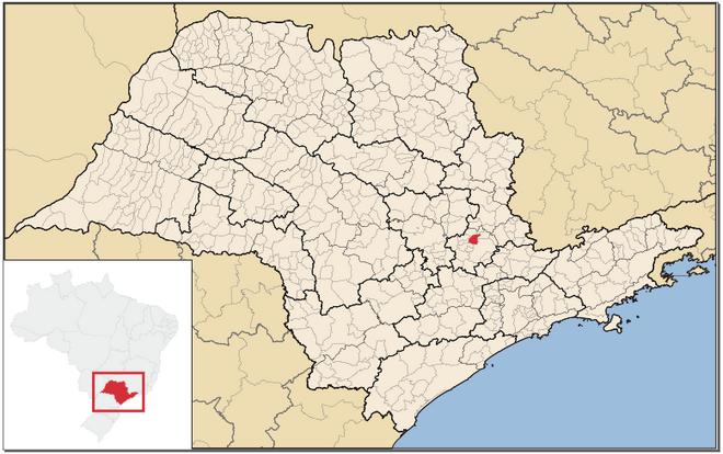 Mapa de Paulínia em São Paulo