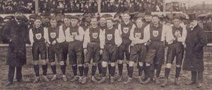 Ernst Jordan mit der deutsche Fußballnationalmannschaft, 1908