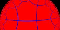 Order-4 hexagonal tiling